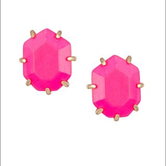 crystal pk teardrop floral n pink swtrading treasure neon earring earrings
